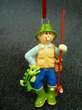 Rudolph & Me Fisherman Christmas Ornament NEW with Tag (o2478)