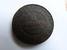 Pièce monnaie ITALIE ITALY ITALIA SARDAIGNE SARDEGNA 5 cent 1826 état voir scan