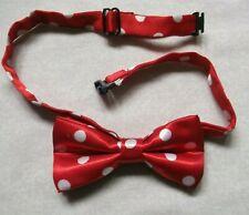 Bow Tie BOYS GIRLS Dickie Bowtie Age 2-8 Red White Spotty Spots