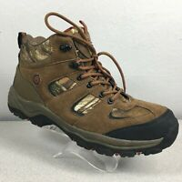 Coleman Griz Leather / Canvas Mid Hiking Boots Brown & Camo Mens Size 12 W