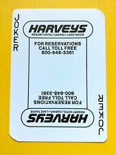 Harveys Resort Casino Lake Tahoe 50th Anniversary Joker Single Swap Playing Card