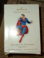 DC Comics Hallmark Superman Noël Ornement Figure 2010 Ltd dernier Fils de Krypton