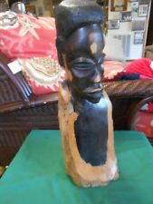 "Outstanding ""Very Heavy"" EBONY Handcrafted Wood AFRICAN MAN Statue"