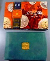 1873-1998 125 Year RCMP-GRC Royal Canadian Mint Proof Set 6 Sterling Coins