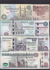 EGYPT 1 5 10 20 50 100 200 EGP 2013 2015 P 63 64 65 66 67 69 SIG/T.AMER UNC SET