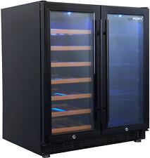 Husky HUS-WC66B-BK-ZY Vino Pro Dual Door Wine Storage Cabinet and Drink Chiller