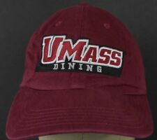 Maroon UMASS Dining Logo Souvenir Embroidered Baseball Hat Cap Adjustable Strap