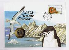 "British Antarctic Terr ""BIRDS ~ ALBATROSS ~ ICEBERGS"" Coin Cover / PNC 1991 !"
