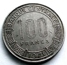FRENCH EQUATORIAL AFRICA - CAMEROON 100 FRANCS 1971 KM#15 TT10.1