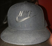 NIKE AIR NEW SNAPBACK HAT MENS BLACK AUTHENTIC CAP STYLE RAISED LOGO