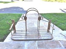 """Iron Shelf Wall Hanging 26"""" Length/16"""" Tall Heavy Piece in Mint Condition"""