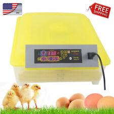 56 Egg Turner Automatic Hatcher Egg Incubator Digital Poultry Chicken Bird Duck