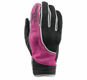 Speed and Strength Women's Comin' In Hot Leather-Mesh Motorcycle Gloves Black/Pi