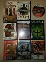 Mixed Lot Of 9 ~ PC CD Rom Computer Games - big box - Wolfenstein