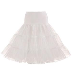 """UK Petticoat/Rockabilly Net Skirt 26""""Retro Tutu Underskirt/50s Swing Vintage K1"""