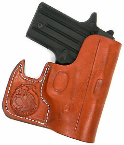 Wallet Shoot Thru Brown Leather Pocket Holster Fits Ruger LCP 2 22LR Second Gen