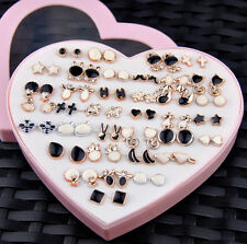 Wholesale lot 36 pairs fashion Mixed styles Black and White earrings