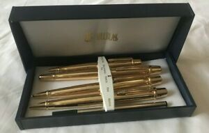 Bill Blass Gold Tone 5 Piece Set - New w/ Damaged Boxes See Pictures