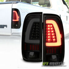 Black Smoke 1997-2003 Ford F-150 99-07 F-250 F-350 Light Tube LED Tail Lamp Set