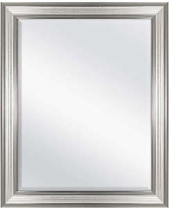 MCS 22x28 Inch Ridged Mirror, 27x33 Inch Overall Size, Silver 20580