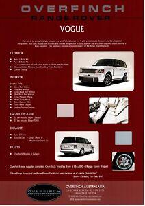 Range Rover Overfinch Brochure from Australia Vogue