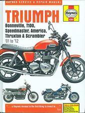 2001 02 03 04 05 06 07 08 09 10 11 12 TRIUMPH BONNEVILLE  SHOP MANUAL-HARD COVER