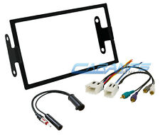 NEW CAR STEREO RADIO DOUBLE DIN INSTALLATION DASH TRIM KIT W/ AMP WIRE HARNESS