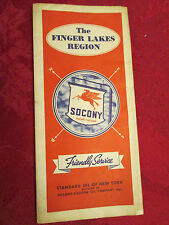 The Finger Lakers Region Socony Mobilgas Road Map-1936