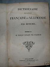 1838 French-German Dictionary Francaise Et Allemande Paris Antique Collectible