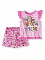 Paw Patrol Toddler Girl 2 Piece Pajama Set 2T Flutter Sleeves