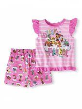 Paw Patrol Toddler Girl 2 Piece Pajama Set 2T Flutter Sleeves