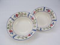 """TWO Vintage Nikko Bowls Cereal Soup Salad Dessert Provincial Designs Avondale 6"""""""