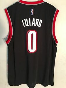 Adidas NBA Jersey Portland Trailblazers Damian Lillard Black sz XL