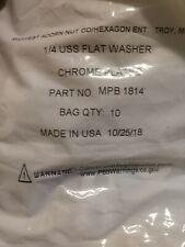 """USA Flat Washers Chrome Plated Steel SAE Round Washers - Sizes 1/4"""""""