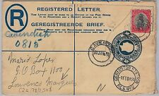 South Africa: POSTAL STATIONERY COVER : from CAVENDISH to LOURENCO MARQUEZ 1930