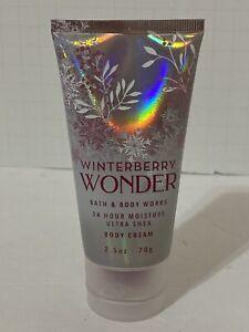 Winterberry Wonder NEW *TRAVEL* Body Cream 2.5 oz Bath & Body Works SHIPS FREE!