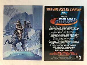 CHEAP PROMO CARD: STAR WARS FINEST (Topps 1996) #SWF3 Luke Skywalker AT-AT