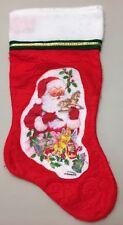 Vintage Giordano Christmas Stocking Santa Gifts Felt Collectible Holiday Decor