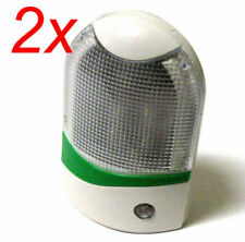 2x Automatic Light Control Sensor Warm White LED Night Light Lamp Wall AC Plug