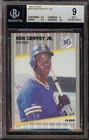 1989 Fleer #548 Ken Griffey Jr Rookie RC Seattle Mariners BGS 9 Mint