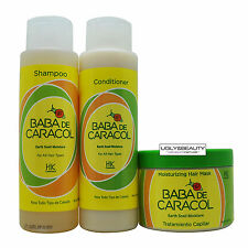 Baba De Caracol Earth Snail Moisture Shampoo, Conditioner, & Hair Mask 16 Oz Set