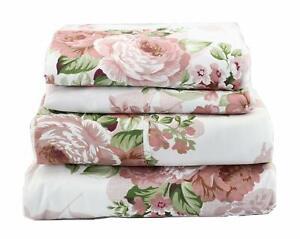Beautiful Floral Bedding Sheet Set Mauve Rose