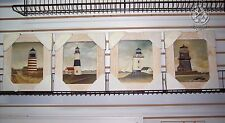 """Set of 4 Watercolor Lighthouse Prints Framed 14"""" X 12"""""""