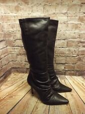 Womens Faith Brown Leather Zip Fastening High Heel Long Boots UK 5 EU 38