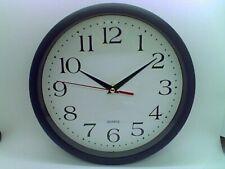"Bernhard 10"" Round Wall Clock - Black BRAND NEW"
