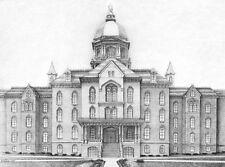 Notre Dame University Golden Dome Lithograph Prints