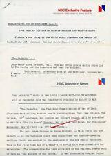 LOUIS L'AMOUR BEN JOHNSON THE SACKETTS RARE ORIGINAL 1979 NBC TV PRESS MATERIAL