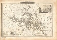 1824 ANTIQUE MAP-TOWN PLAN - BLACKBURN, LANCASHIRE, Jas GILLIES