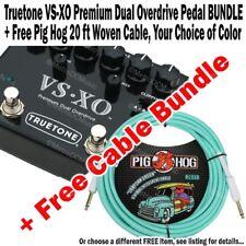 TRUETONE VS-XO Dual Overdrive NEW + FREE Pig Hog 20 ft Woven Cable BUNDLE NEW
