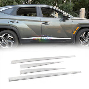 Fit For HYUNDAI Tucson 2022 Up Stainless Side Door Body Guard Molding Cover Trim